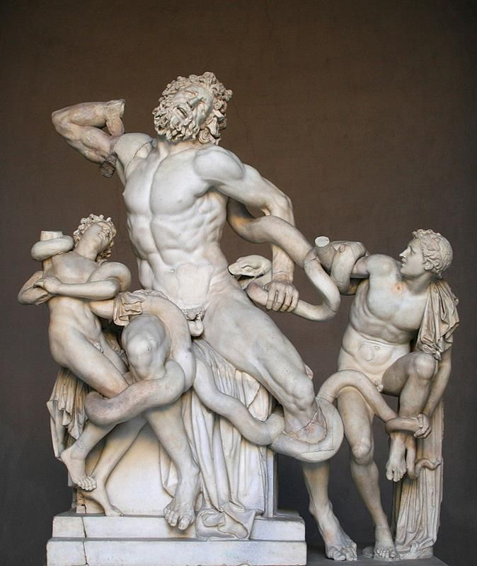 Laocoonte - By English - Agésandros, Athanadoros et Polydore (Jean-Pol GRANDMONT) [CC BY-SA 3.0 or GFDL], via Wikimedia Commons