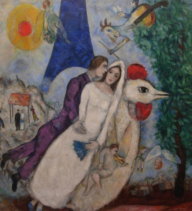 Marc Chagall, Les maries de la tour Eiffel, 1938-1939 - Flick (CC BY-NC 2.0)