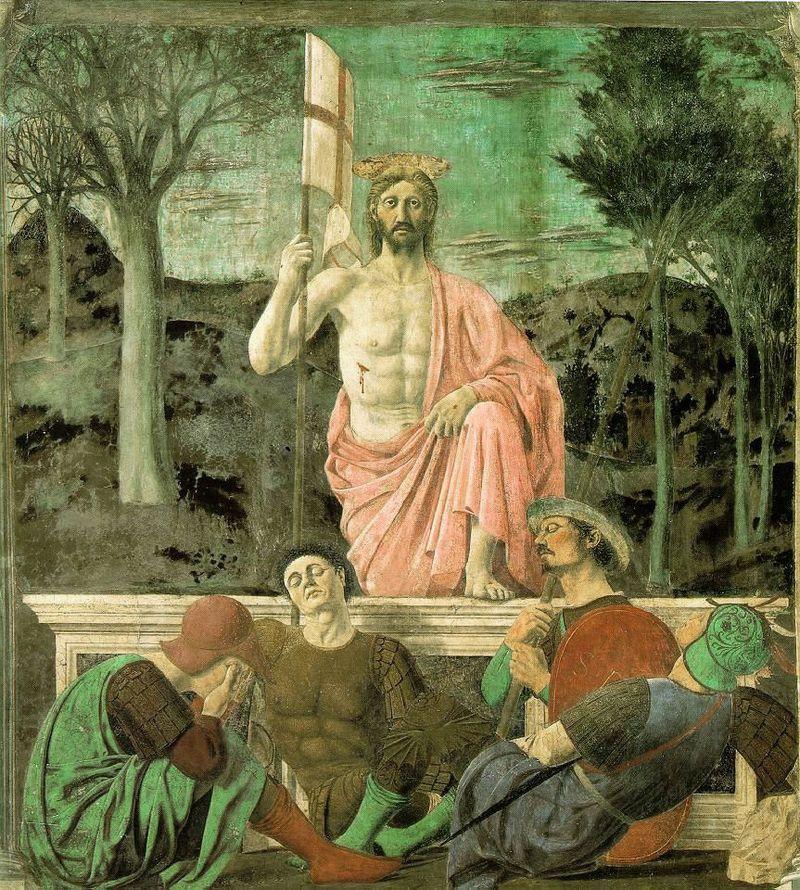 Piero della Francesca, Cristo risorto, 1450-63, Museo Civico, Sansepolcro - Public Domain via Wikipedia Commons