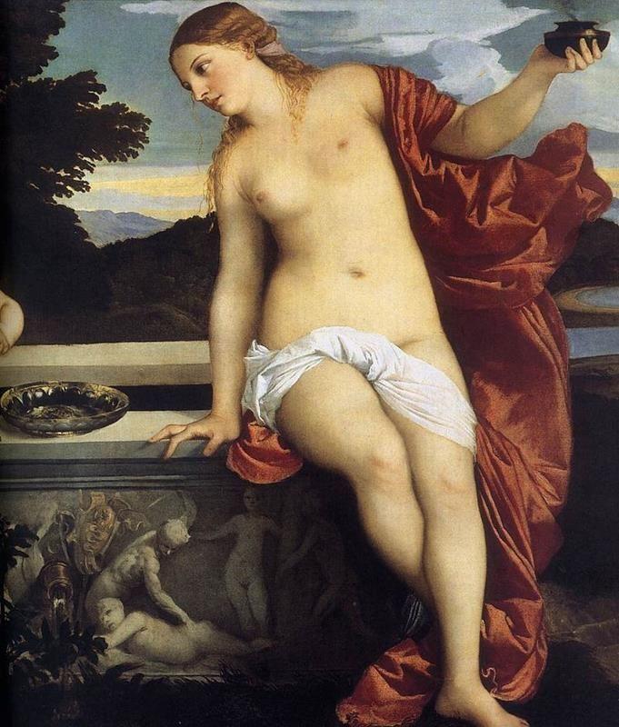 Tiziano Vecellio, Amor sacro e amor profano - Dettaglio di destra