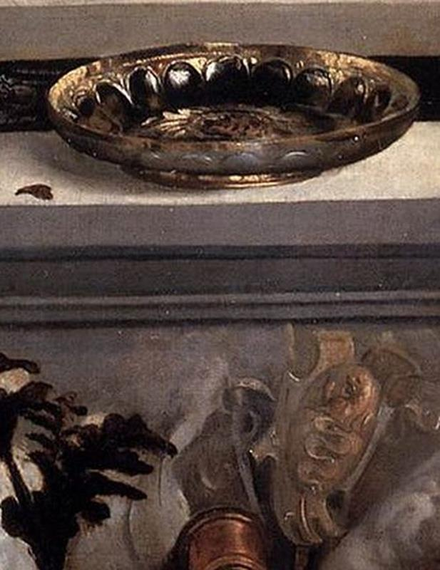 Tiziano Vecellio, Amor sacro e amor profano - Dettaglio stemmi