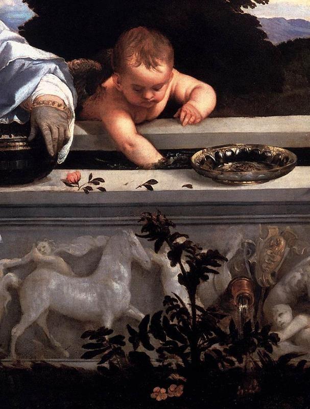 Tiziano Vecellio, Amor sacro e amor profano - Dettaglio vasca