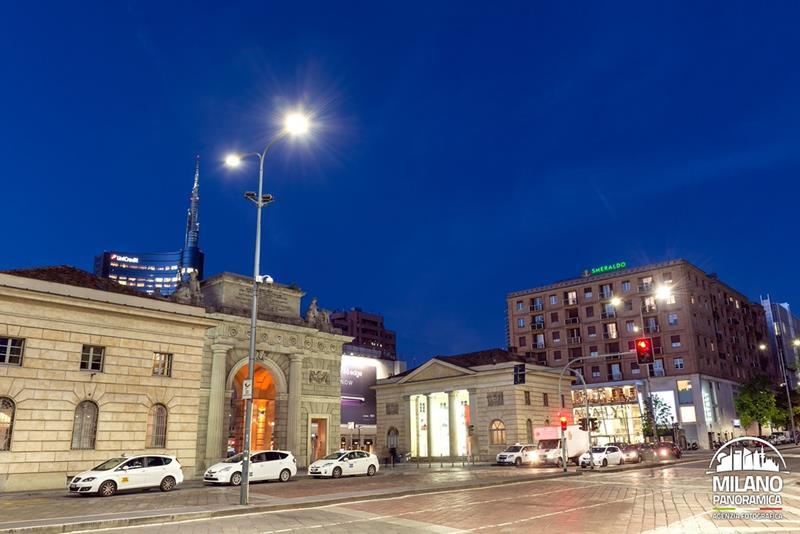 Viale Crispi e Porta Garibaldi