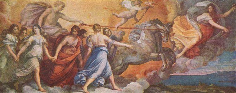 Sibilla, Pierina e la Signora del Gioco - Guido Reni, L'Aurora, Palazzo Rospiglosi-Pallavicini, Roma, 1614 (public domain, via Wikimedia Commons).