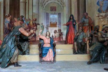 Don Giuseppe Gervasini, el Ratanà - Disputa di Gesù tra i dottori, Sacro monte di Varese, cappella 5 (public domain, via Wikimedia Commons).