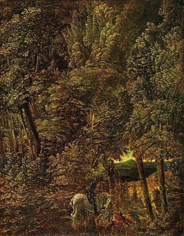 Albrecht Altdorfer, San Giorgio nella foresta, 1510 - Public Domain via Wikipedia Commons