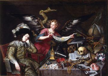 Gerolamo Cardano - Antonio de Pereda, Il sogno del cavaliere, 1650 (public domain, via Wikimedia Commons).