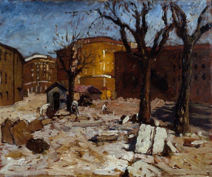 Luigi Zago, piazza della Vetra, 1930 (public domain, via Wikimedia Commons).