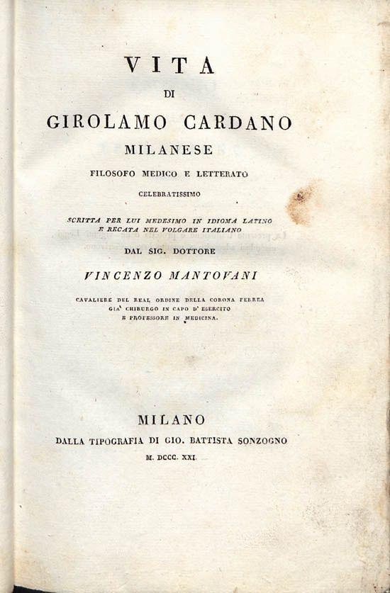 Frontespizio della traduzione italiana del 1821 (public domain, via Wikimedia Commons).