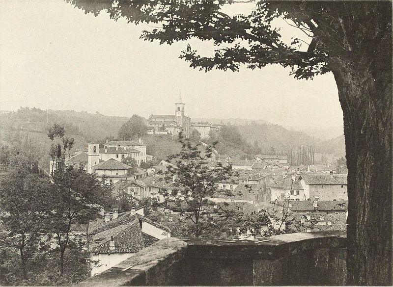 Il borgo di Castiglione Olona, presso Varese, 1893 (public domain, via Wikimedia Commons).