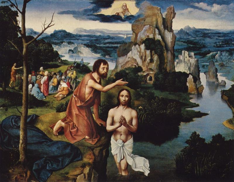 Joachim Patinir, Battesimo di Cristo, 1515, Kunsthistorisches Museum, Vienna - Public Domain via Wikipedia Commons