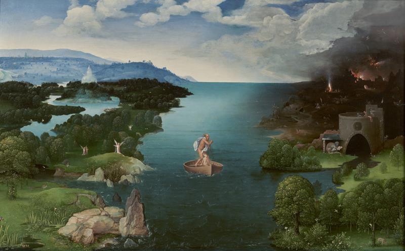 Joachim Patinir, Caronte attraversa il fiume Stige, 1524, Museo del Prado - Public Domain via Wikipedia Commons
