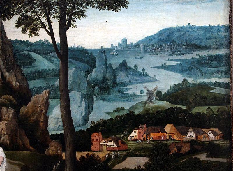 Joachim Patinir, Riposo durante la fuga in Egitto, particolare, 1520 ca. - Public Domain via Wikipedia Commons