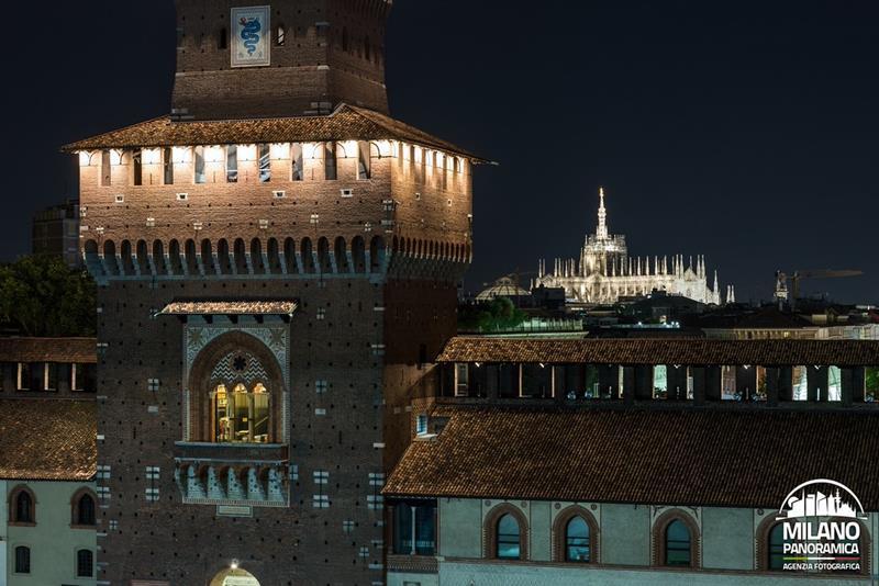 La torre del Filarete e il Duomo