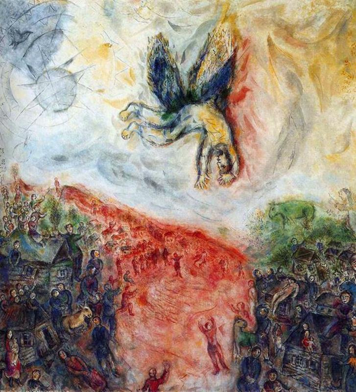 Marc Chagall, La caduta di Icaro, 1975 - Pinterest