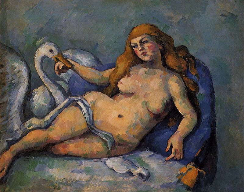 Paul Cézanne, Leda e il cigno, 1880-82, The Barnes Foundation, Merion, Pennsylvania, USA - Public Domain via Wikipedia Commons.
