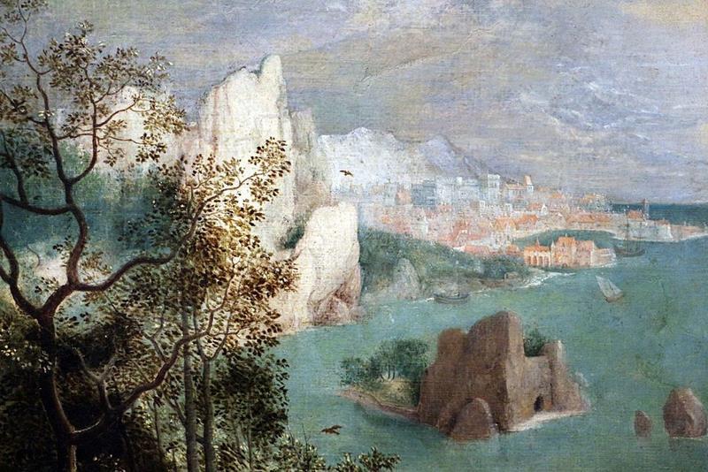 Pieter  Bruegel il Vecchio, Caduta di Icaro, Particolare paesaggio