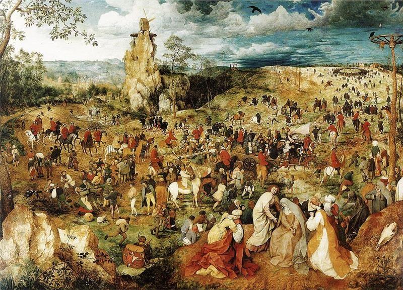 Pieter Bruegel il Vecchio, Salita al Calvario, 1568, Vienna, Kunsthistoriches Museum - Public Domain via Wikipedia Commons