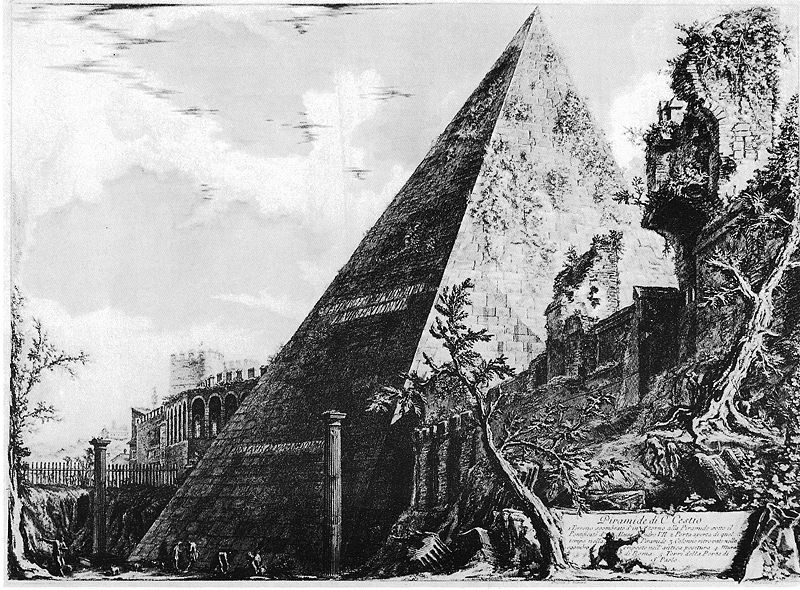 Piranesi Pyramid - Giovanni Battista Piranesi [Public domain], via Wikimedia Commons