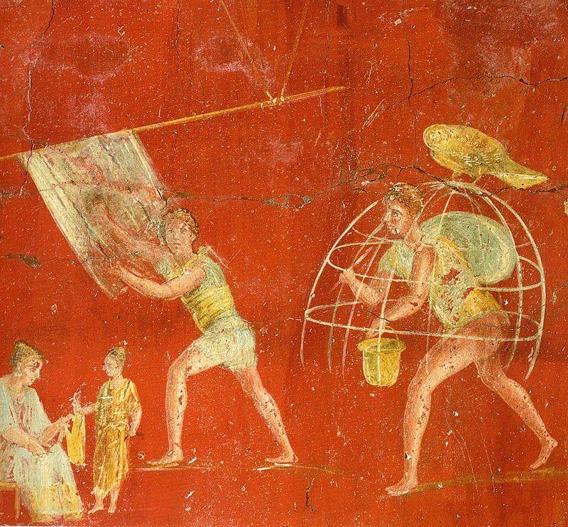 Pompeii_-_Fullonica_of_Veranius_Hypsaeus - Di WolfgangRieger [Public domain], attraverso Wikimedia Commons