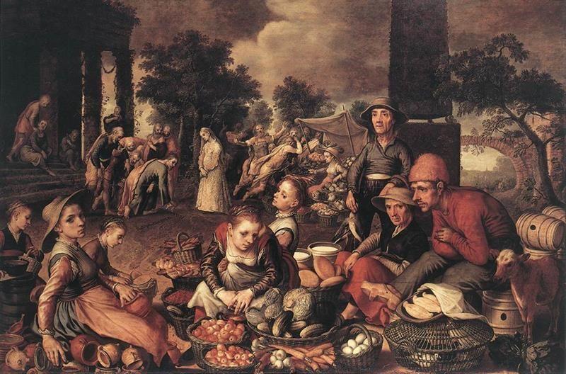 Pieter Aertsen, Cristo e l'adultera, 1559, Museo Städel, Francoforte - Public Domain via Wikipedia Commons