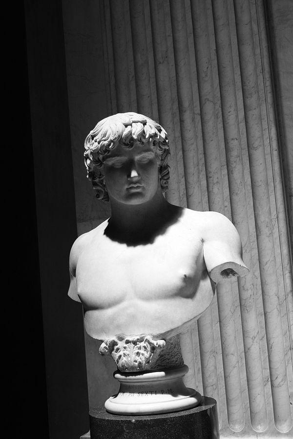 Busto di Antinoo (Vaticano) - Di Giovanni Dall'Orto (Opera propria) [Attribution], attraverso Wikimedia Commons