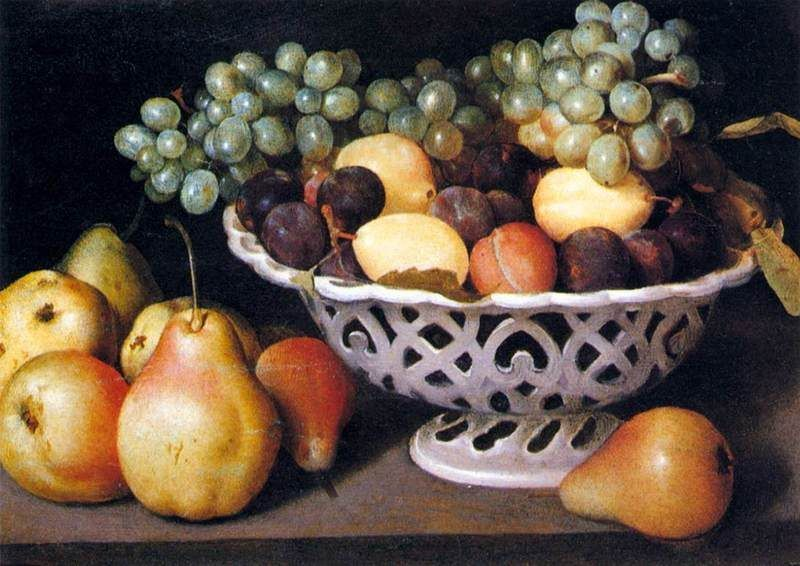 Fede Galizia, Maiolica Basket of Fruit, 1610 ca. - Public Domain