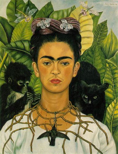 Frida Kahlo, Autoritratto con collana di spine, 1940 - Flickr