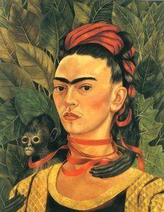 Frida Kahlo,Autoritratto con scimmia, 1940 - Pinterest