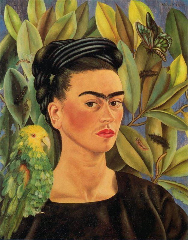 Frida Kahlo, Self-Portrait With Bonito, 1941 - Flickr
