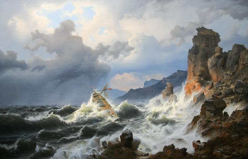 andreas-achenbach-storm-on-the-sea-at-the-norwegian-coast-1837-stadel-museum-public-domain-via-wikipedia-commons