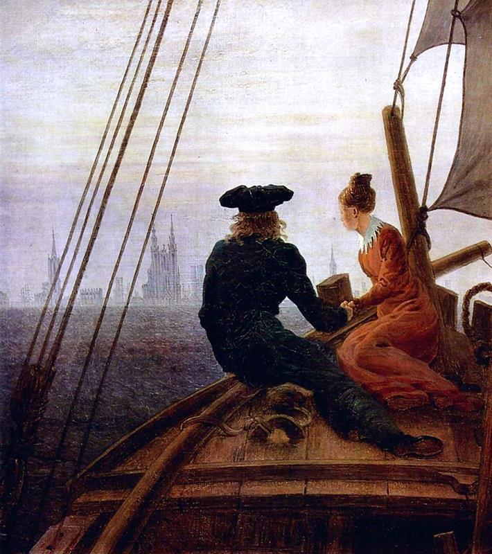 Caspar David Friedrich, Auf dem Segler, (1818) - Public Domain via Wikipedia Commons