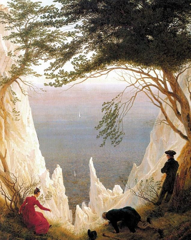 Caspar David Friedrich, Kreidefelsen auf Rügen - Public Domain via Wikipedia Commons