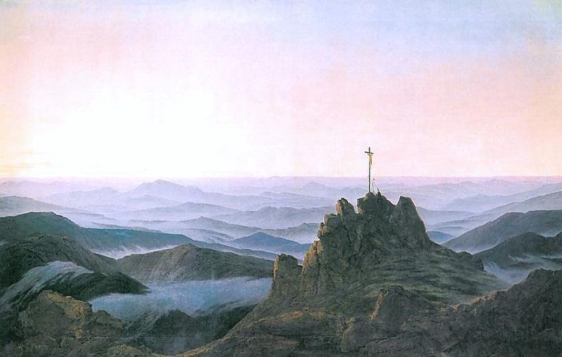 Caspar David Friedrich, Morgen im Riesengebirge (1810-1811) - Public Domain via Wikipedia Commons