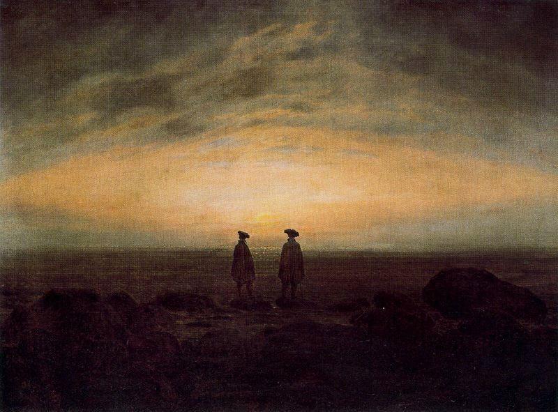Caspar David Friedrich, Two Men by the Sea, 1818 - Public Domain via Wikipedia Commons