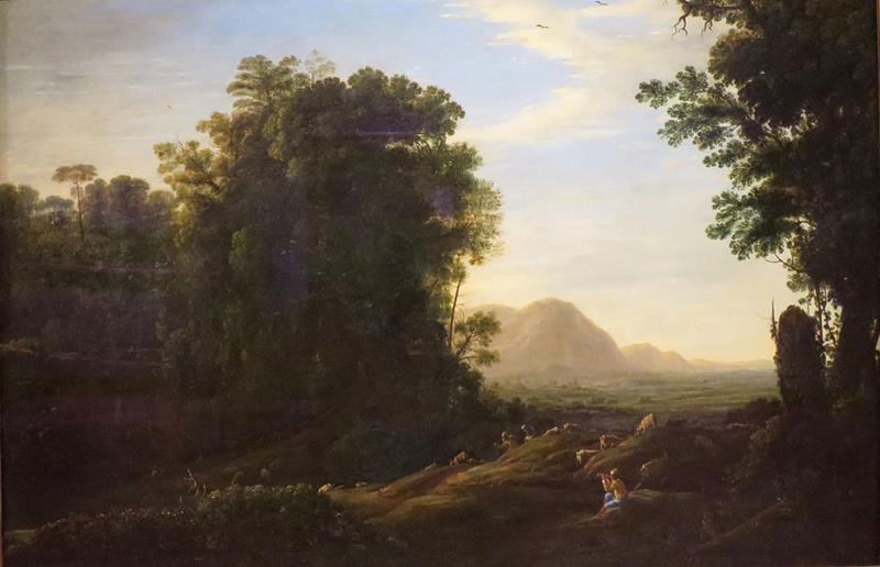 Claude Lorrain, Landscape with a Piping Shepherd, c. 1629-32, Norton Simon Museum - Public Domain via Wikipedia Commons