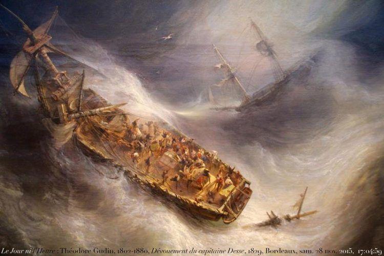 Jean Antoine Theodore de Gudin, Il sacrificio del capitano Desse, 1829-1831, Bordeaux, Musée des Beaux-Arts - Flickr