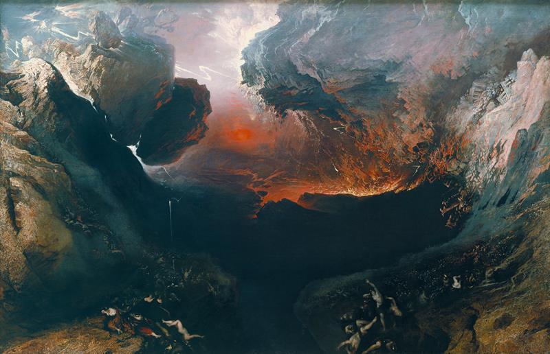 John Martin, Il grande giorno della Sua collera, 1851-53, Londra, Tate Britain - Public Domain via Wikipedia Commons
