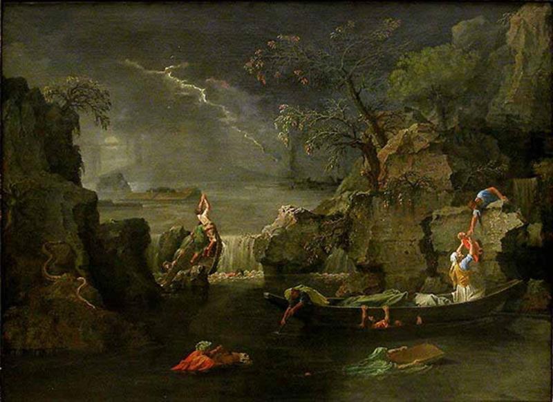 Nicolas Poussin, L'Inverno o Il diluvio, 1660, Parigi, Louvre - Public Domain via Wikipedia Commons