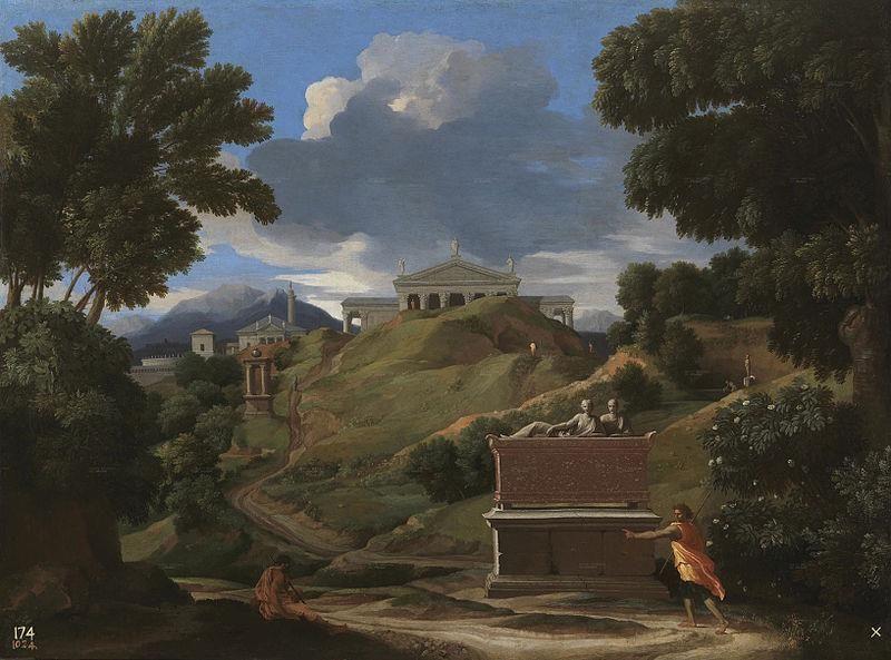 Nicolas Poussin, Paysage avec ruines, 1634, Museo del Prado - Public Domain via Wikipedia Commons