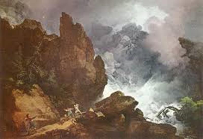 Philip James de Loutherbourg, Valanga sulle Alpi, 1803, Londra, Tate Britain- Public Domain via Wikipedia Commons