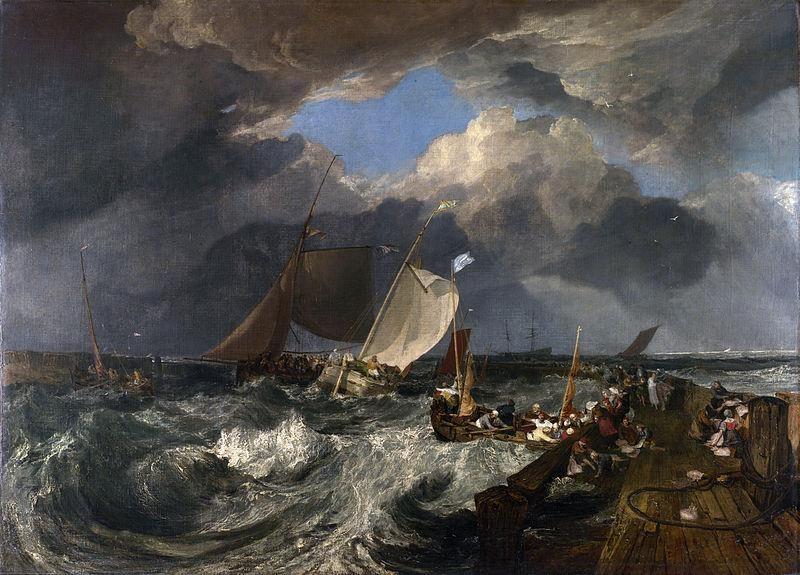 Joseph Mallord William Turner, Il molo di Calais, 1803 - Public Domain via Wikipedia Commons
