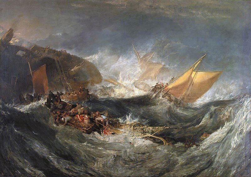 Joseph Mallord William Turner, Il naufragio della Minotauro, 1793 - Public Domain via Wikipedia Commons