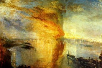 Joseph Mallord William Turner, L'incendio delle Camere dei Lord e dei Comuni, 1835 - Public Domain via Wikipedia Commons