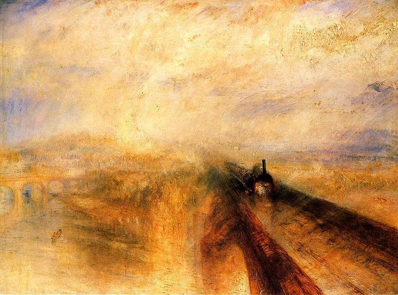 Joseph Mallord William Turner, Pioggia, vapore e velocità, 1844 - Public Domain via Wikipedia Commons