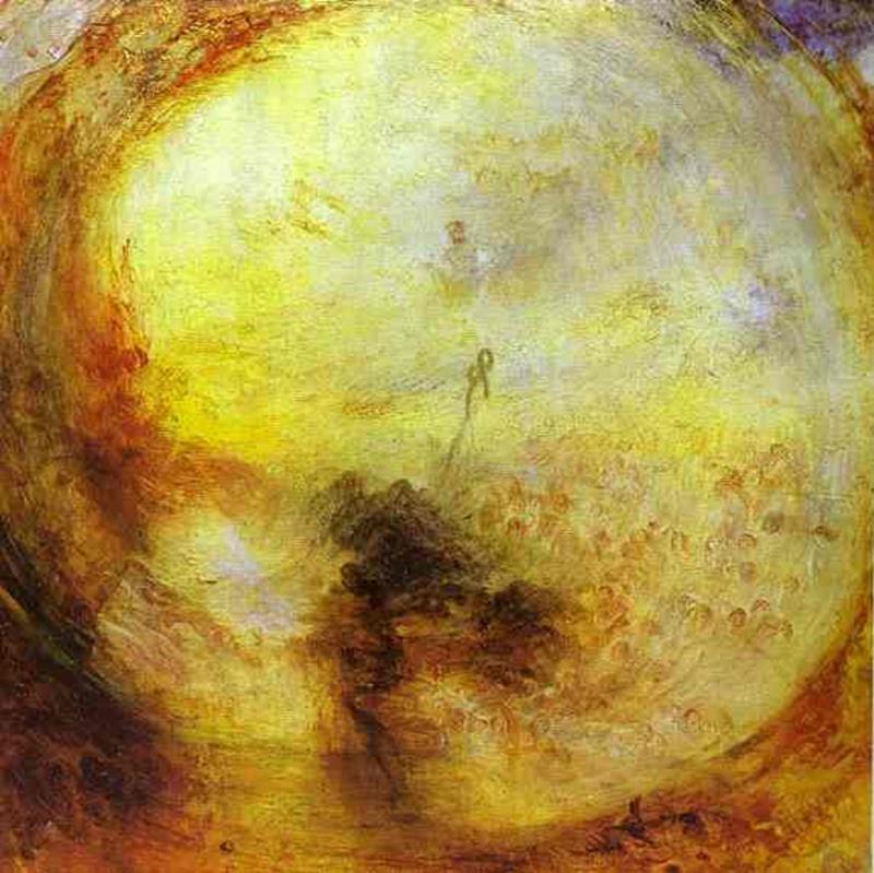 WilliamTurner, Luce e colore, la teoria di Goethe. Il mattino dopo il diluvio, 1843, Tate Gallery, Londra - Public Domain via Wikipedia Commons