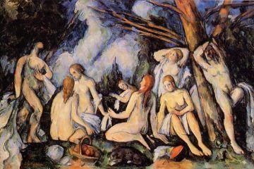 Paul Cézanne, Le grandi bagnanti della Barnes Foundation (1900 circa) - Public Domain via Wikipedia Commons