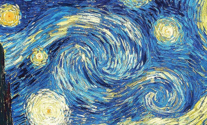 Vincent van Gogh, Notte stellata, particolare - Public Domain via Wikipedia Commons