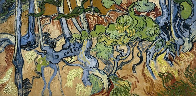 Vincent van Gogh, Tree Roots, July 1890. Van Gogh Museum, Amsterdam - Public Domain via Wikipedia Commons