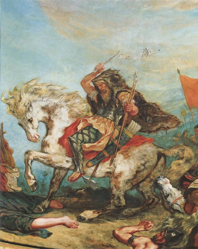 Attila fragment - Eugène Delacroix [Public domain], attraverso Wikimedia Commons